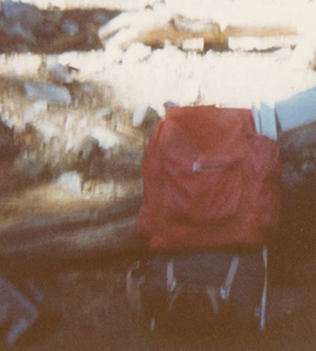 Camp Trails Cruiser frame, unknown packbag, Jackson Flats, 1969