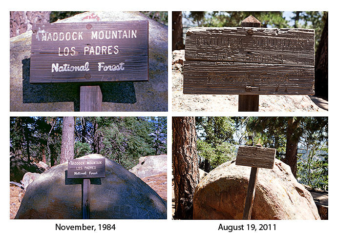 Haddock Mountain Sign, 1984 and 2011