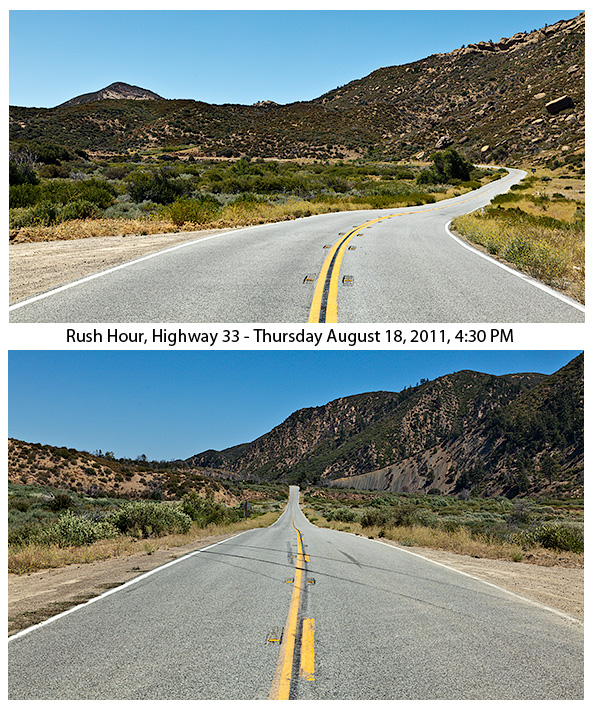 Rush Hour, Highway 33, Thursday August 18, 2011