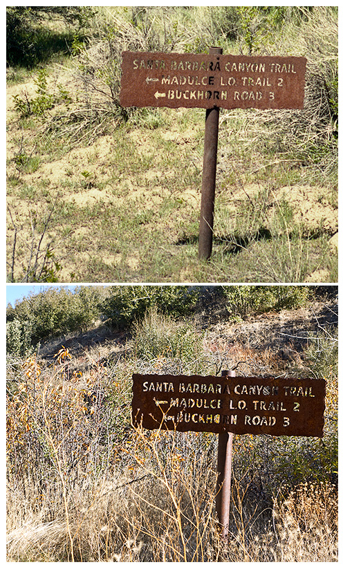 Madulce Ridge Trail Sign, 1983 and 2011