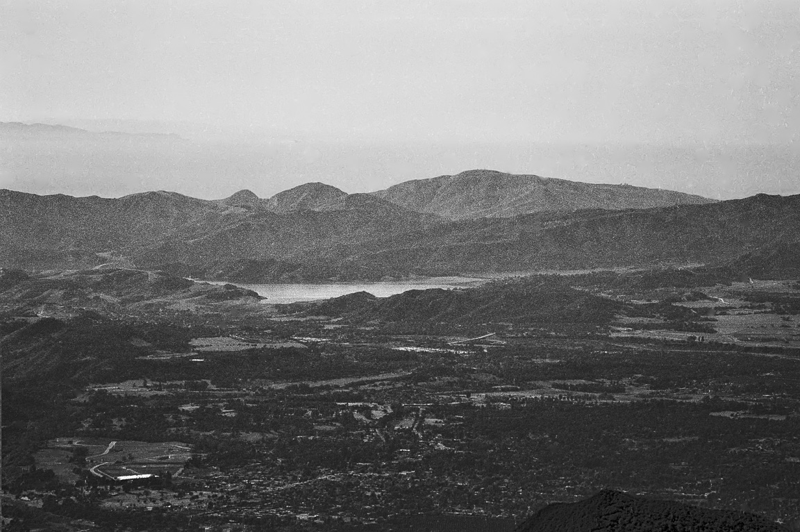 Lake Casitas from Horn Canyon Trail, telephoto shot, 1979