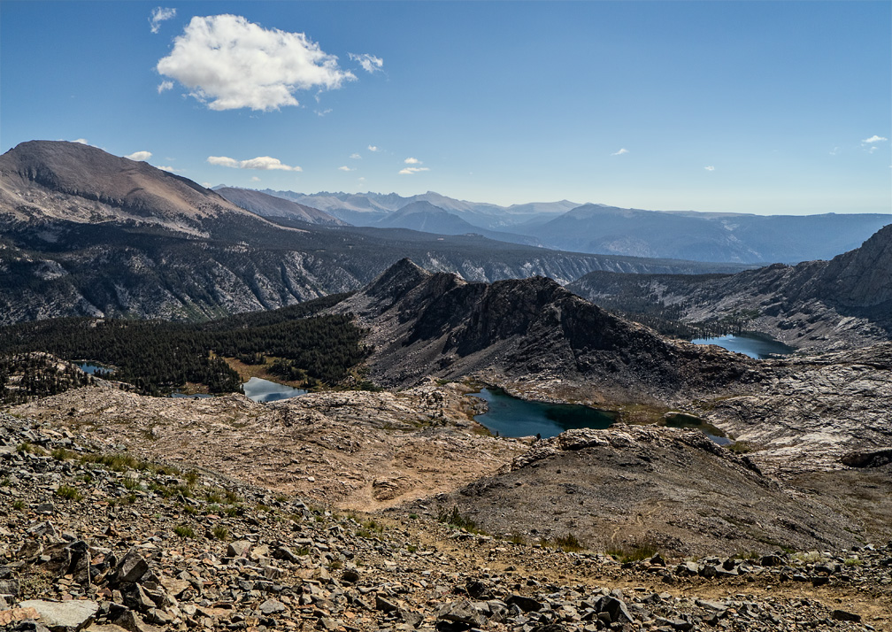 Black Rock Pass, view southeast toward the Whitney Crest, August 23, 2013.