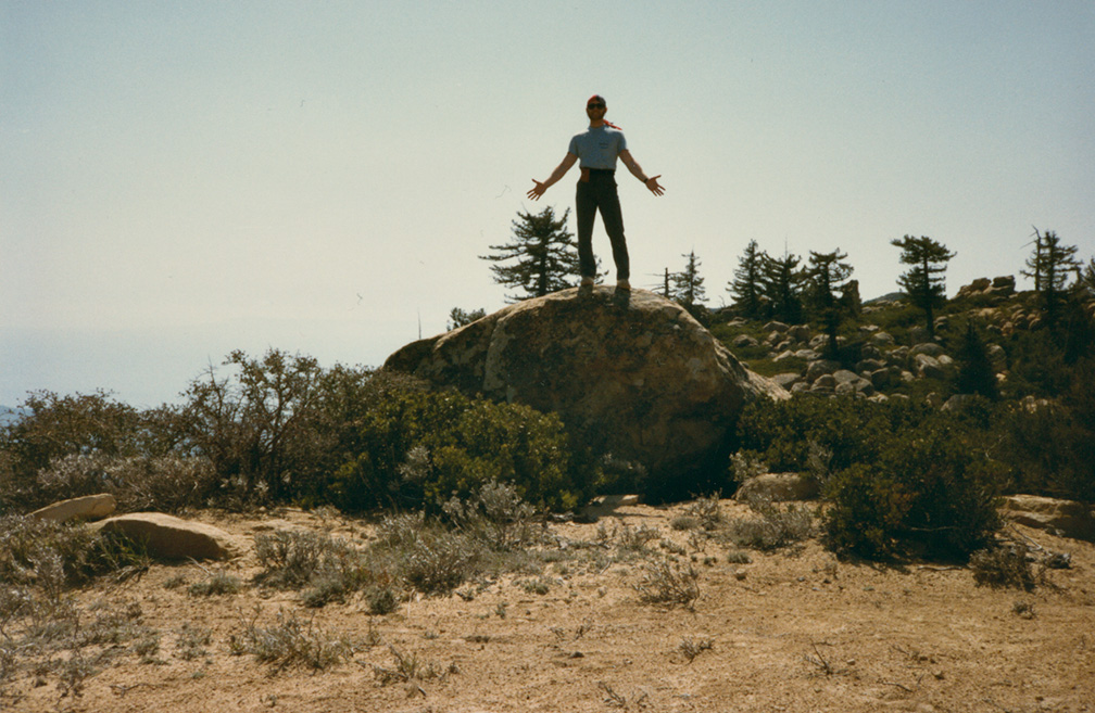 In the rock garden on Santa Ynez ridge, east of Divide Peak, April, 1985