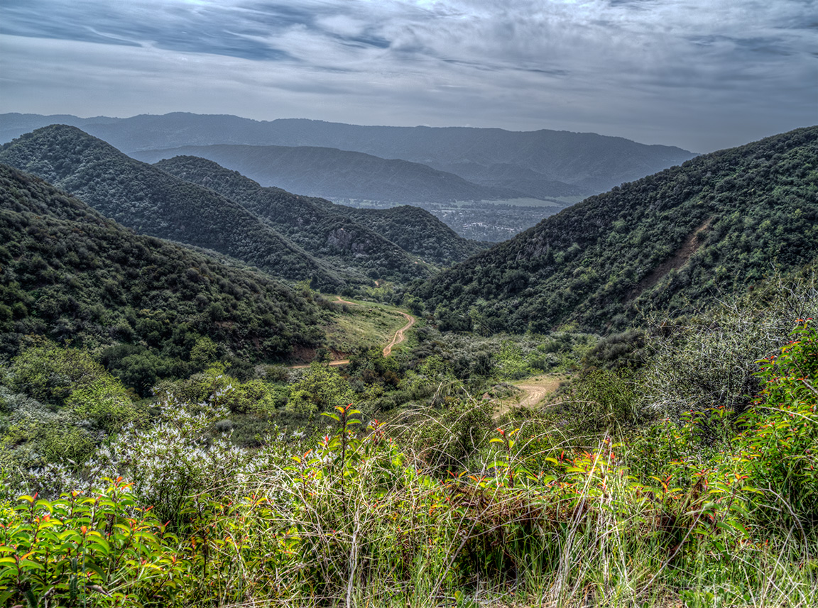 The Ojai Valley from the Pratt trail, March 20, 2013