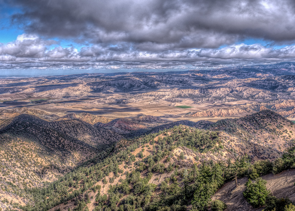 View from Cuyama Peak toward the Cuyama Valley, October 29, 2013