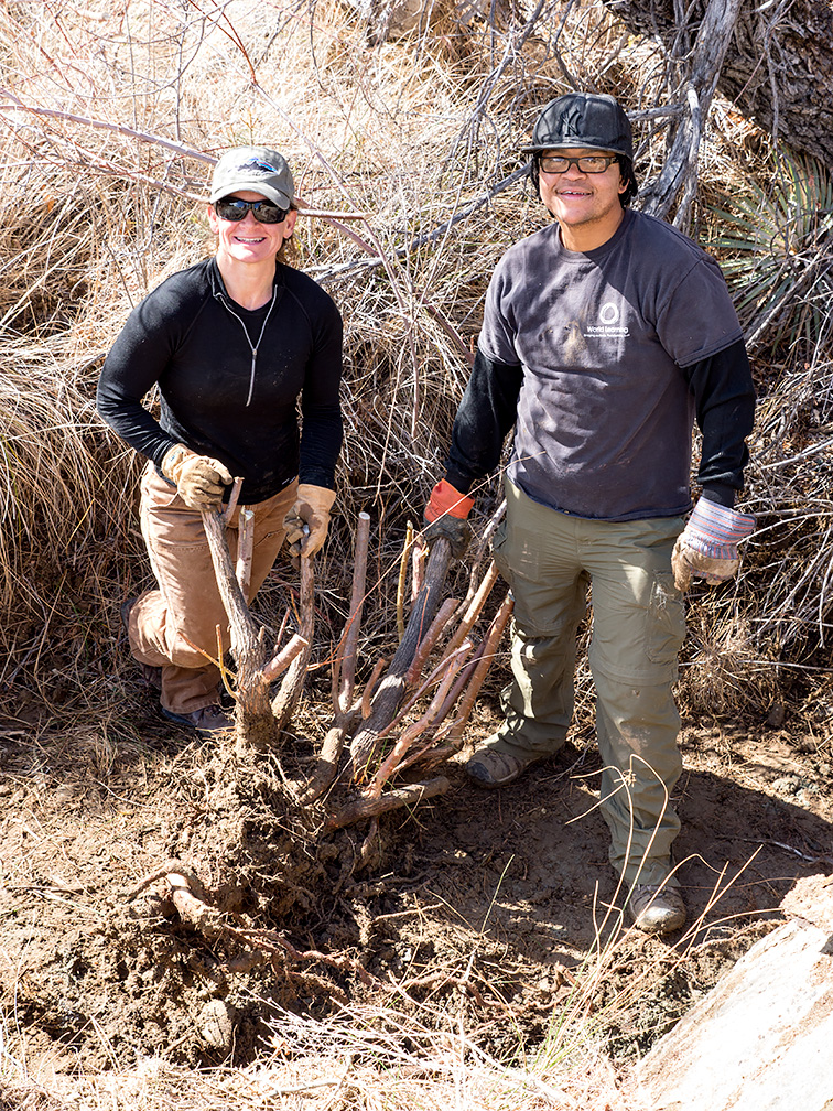 Mary and Marcus bag a multi-point tamarisk, February 2, 2014.